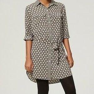 Ann Taylor Loft Mix Print Shirt Dress/Tunic